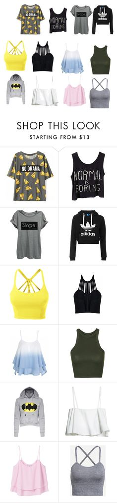 """Untitled #207"" by timcaaa on Polyvore featuring Topshop, LE3NO, Posh Girl and MANGO"