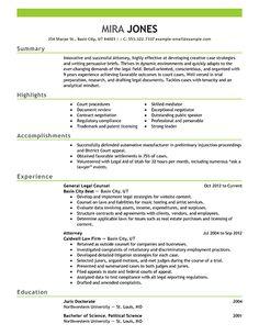 sample resume for a lawyer sampleresume resumetips - Sample Law School Resume