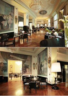Boscolo Palace Roma Hotel  ( decorated with Guido Cadorin's painting ) - FLOORS!