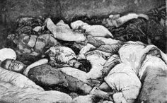Corpses of Armenian children, the aftermath of Turkish brutality, during the Armenian Massacre, under the Armenian Genocide. World War I, World History, History Online, Wounded Knee Massacre, Armenian People, Armenian History, Lest We Forget, Don't Forget, Ottoman Empire