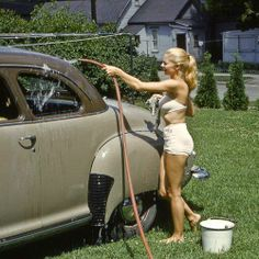 Car wash fifties style