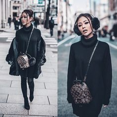 Get this look: More looks by Joanna Aoran: lb.nu/jojochambor…: The Louis Vuitton label was founded by Vuitton in Mochila Louis Vuitton, Louis Vuitton Backpack, Louis Vuitton Handbags, Lv Mini Backpack, Backpack Outfit, Sacs Louis Vuiton, Mini Mochila, Fall Outfits, Cute Outfits