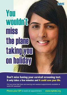 Cervical screening poster from Manchester Public Health Development Service