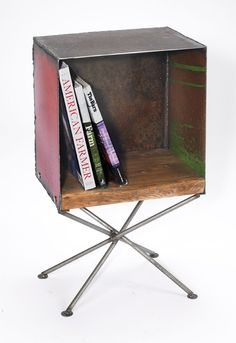 End Table Box Reclaimed Wood and Recycled Farm by TheSteelFork, $605.00