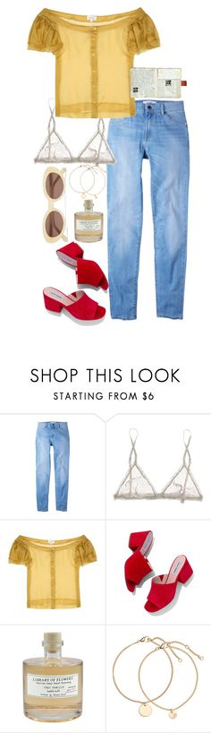 """Untitled #1179"" by sam-laurent ❤ liked on Polyvore featuring MANGO, STELLA McCARTNEY, Isa Arfen, Steve Madden, Library of Flowers and Elizabeth and James"