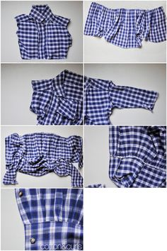 C&C: Men's button up to women's button up tutorial (or button up peplum top tutorial)