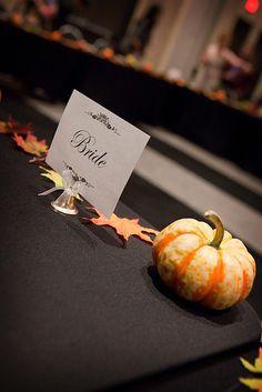 Halloween wedding Table Detail