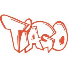 Sticker mural: personnalisation de Tiago Graffiti