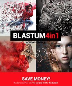Blastum 4 in 1 #bundle #particles #action #photoshop