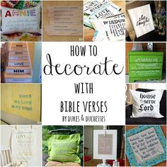 How to Decorate with Bible Verses - Dukes and Duchesses