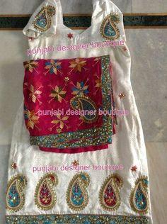 Beautiful suit Indian Suits, Punjabi Suits, Indian Wear, Indian Style, Shalwar Kameez, Patiala, Punjabi Designer Boutique, Phulkari Suit, Patiyala Suit