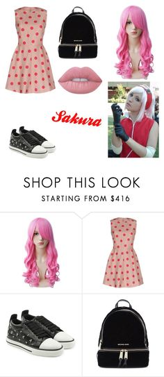 """""""Sakura"""" by lilibessa on Polyvore featuring RED Valentino, Michael Kors and Lime Crime"""