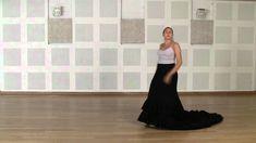 Técnica avanzada de bata de cola flamenca: Vuelta quebrada por detrás
