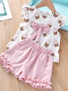 Kids Outfits Girls, Toddler Girl Outfits, Toddler Girls, Girls Tracksuit, Outfits Niños, Kids Suits, Summer Girls, Baby Girl Clothes Summer, Baby Dress