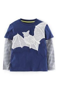 Mini Boden 'Halloween' Layer Look T-Shirt (Toddler Boys, Little Boys & Big Boys) available at #Nordstrom