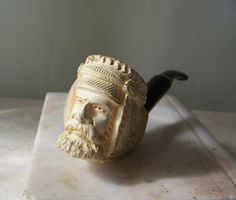 Vintage Meerschaum Pipe Hand Carved Sultan Meerschaum Tobacco Pipe Smoking Accessory Man Cave by cynthiasattic on Etsy