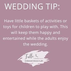 Wedding tip