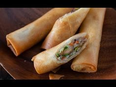 Easy and authentic Vegetable Spring Rolls Recipe with step-by-step video by recipe developer, TV chef and cookbook author, Jaden of Steamy Kitchen