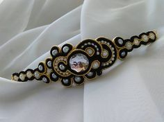 Badi / Soutache náramok Beaded Bracelets, Jewelry, Fashion, Moda, Jewlery, Jewerly, Fashion Styles, Pearl Bracelets, Schmuck