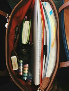 tanya's studyblr — anne-alytically: days of productivity ✨ . Study Organization, School Bag Organization, University Organization, Handbag Organization, What In My Bag, Study Hard, Hard Work, School Hacks, Study Notes
