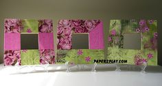 Set of mirrors (Malma from Ikea) with Decopatch paper Cupboard, Ikea, Crafty, Quilts, Blanket, Paper, Frame, Mirrors, Home Decor