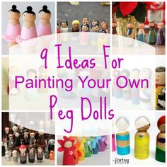 Peg dolls are quite the rage in the indie craft world, and if you have yet to see the variety of decorated wooden dolls, you have been missing out! Not only do these adorable little things come in… Nativity Peg Doll, Wood Peg Dolls, Clothespin Dolls, Wood Toys, Doll Crafts, Diy Doll, Diy Snowman Decorations, Worry Dolls, Clothes Pegs