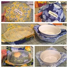 Reversible Bowl Cozy & Microwave Plate Cozy Microwave Plate Holder Potholder Plate ...