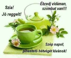 Szombat - Megaport Media Share Pictures, Good Night Gif, Tea Pots, Tableware, Food, Smiley, Google, Drinking Coffee, Emoticon