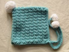 Thick Cozy Aqua Crocheted Pixie Hat (20.00 USD) by WarmingHeartsB1G1