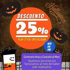Descuento 25% sobre nuestro Plan Total-Instagram. #agenciasmm #medellin #bogota #riodejaneiro #lima #quito #caracas #panama #costarica #guatemala #puertorico #cartagena #cali #barranquilla #aumentarventas #latinoamerica #redessociales #saopaulo #mexico #saopaulo