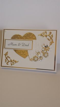 Golden Wedding Anniversary Box | docrafts.com
