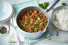 This colourful vegan curry brightens up mealtimes with its tasty combination of warming spices and vegetables. See more Vegan recipes at Tesco Real Food.