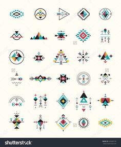 Esoteric Alchemy Boho Bohemian Sacred Geometry Tribal And Aztec Sacred Geometry Mystic Shapes Symbols StockVektorgrafik Illustration 420496150 Shutterstock Simbolos Tattoo, Body Art Tattoos, Shape Tattoo, Tattoo Drawings, Tribal Tattoos, Tatoos, Boho, Motifs Aztèques, Muster Tattoos