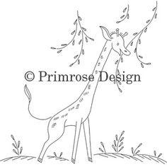 Primrose Design | Vintage | Embroidery Pattern | Grazing Giraffes