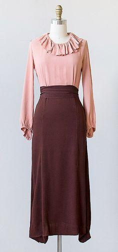 vintage 1930 dress | 30s vintage dress #vintage #1930s