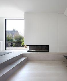 Minus Architects | V Leper fireplace splitlevel minimalistic barefootstyling.com