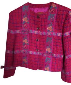 Kenzo Multi Color Of Raspberry, Purple, Burnt Orange And Navy Blue Jacket. Free shipping and guaranteed authenticity on Kenzo Multi Color Of Raspberry, Purple, Burnt Orange And Navy Blue Jacket at Tradesy. Stunning Kenzo vintage short jacket... A must have...