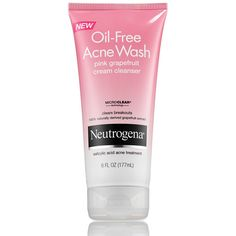 Oil-Free Acne Wash Pink Grapefruit Cream Cleanser ❤ liked on Polyvore featuring beauty products, skincare, face care, face cleansers, makeup, beauty, pele, cream facial cleanser, oil free facial cleanser and oil free face wash