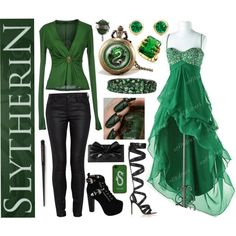 slytherin inspired prom dresses - Google Search