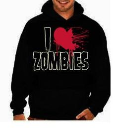 i love zombies:funny cool hoodies Funniest Humorous designs graphic hooded hoody sweater shirt on Etsy, $24.99