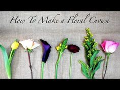 How To Make A Floral Crown, crafts, DIY - QuinnCooperStyle.com
