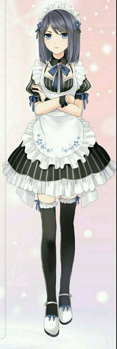 Miracle Nikki characters Kawaii Cute, Kawaii Anime, Chibi, Manga Anime Girl, Anime Girls, Anime Maid, Maid Cosplay, Anime Outfits, Maid Outfit Anime