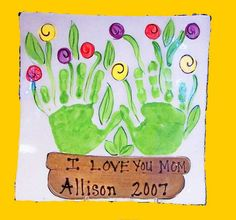 Mothers day or spring art project for kids Classroom Crafts, Preschool Crafts, Fun Crafts, Crafts For Kids, Craft Kids, Spring Art, Spring Crafts, Holiday Crafts, Footprint Crafts
