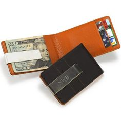 Personalized Metro Leather Wallet and Money Clip - Groom's Gifts & More - Novelty Wedding Gifts - Wedding Favors & Party Supplies - Favors and Flowers