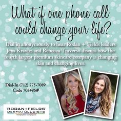 So powerful! Listen anonymously. Rodan + Fields https://peggymcclelland.myrandf.com/