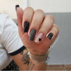 2019 Beautiful Nail Designs for Fall - Uñas esmalte permanente - Unhas Stylish Nails, Trendy Nails, Cute Acrylic Nails, Cute Nails, Nail Designer, Oval Nails, Manicure E Pedicure, Fall Nail Designs, Nagel Gel