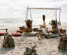Lulu Frost Designer Lisa Salzer and Dancer Marlon Taylor-Wiles's Stunning Seaside Wedding - Rustic Bohemian Wedding, Seaside Wedding, Boho, Destination Wedding, Wedding Day Quotes, Wedding Goals, Wedding After Party, Vogue Wedding, Beach Ceremony