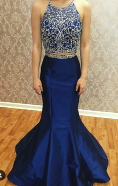 2 piece Prom Dresses, Long prom Dresses, 2 Piece Prom Gown,Two Piece Prom Dresses,Prom Dresses,New Style Prom Gown,2017 Prom Dress,Prom Gowns