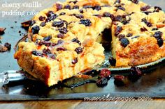 Much like a delicious French toast, this scrumptious bread and butter pudding - Cherry Vanilla Pudding Cake is the best way to start your day! Good morning!