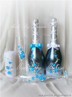 Свадебные наборы. Свадебные бокалы 1200р,свеча 500р,декор 2 бутылок 1500р+стоимость шампанского   почта для заказа mary-joe@mail.ru (Свадьбы)